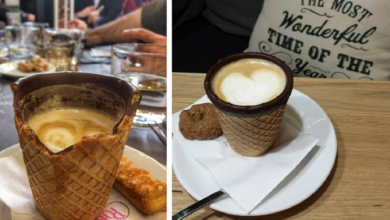 Photo of Η πρώτη καφετέρια στην Ελλάδα που σερβίρει καφέ σε τραγανό «γκοφρετένιο» ποτήρι που τρώγεται